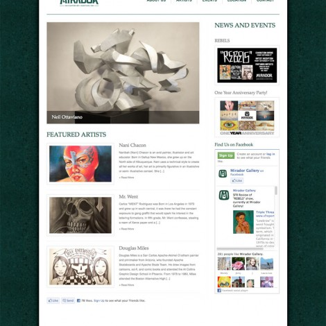 Mirador Gallery Web Site