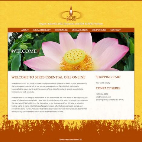 Seres Essential Oils Web Site
